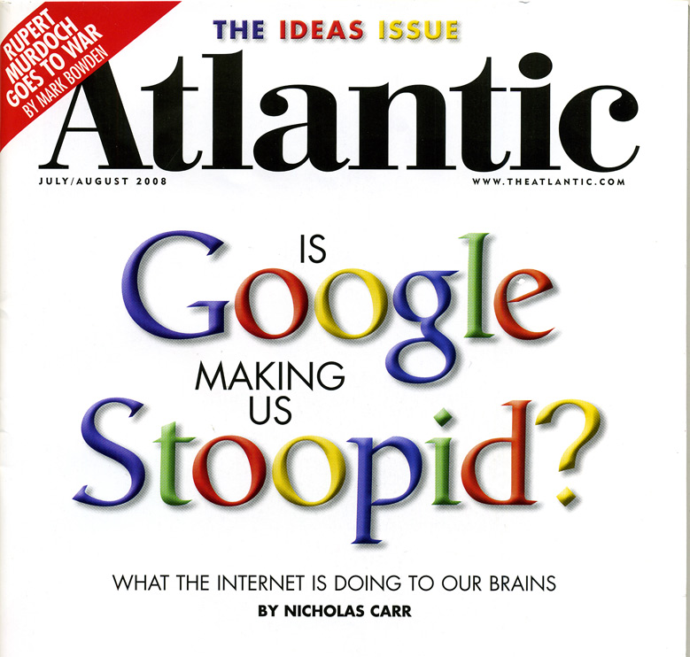 is google making us stupid: summary and response essay 67 why google isn't making us stupidor smart / wellmon to have doubled every eleven hours just a decade ago, computer professionals spoke of.